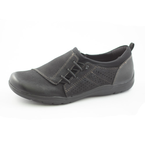 Earth Origins Women's Teresa Slip On Black Vintage Leather - Shop now @ Shoolu.com