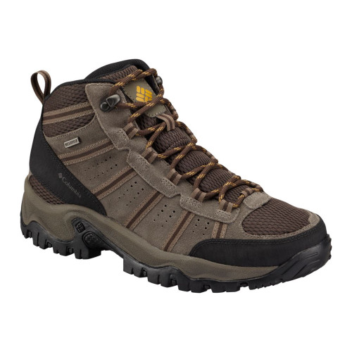 Columbia Men's Grants Pass WP Lace Up Hiking Boots Cordovan/Mud - Shop now @ Shoolu.com