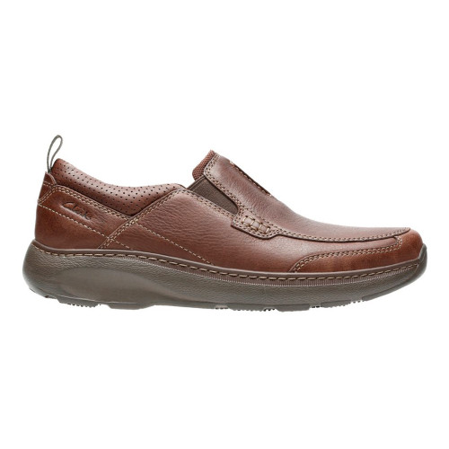 Clarks Men's Charton Step Slip On Brown Leather - Shop now @ Shoolu.com