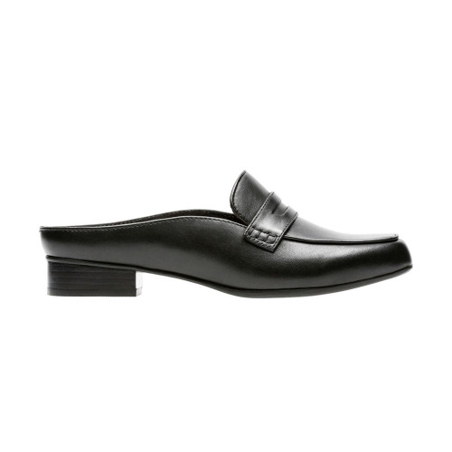 Clarks Women's Keesha Donna Slip On Black Leather - Shop now @ Shoolu.com