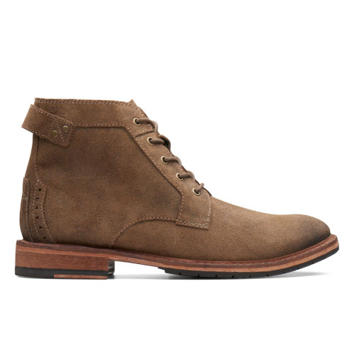 Clarks Men's Clarksdale Bud Boot Khaki Suede - Shop now @ Shoolu.com