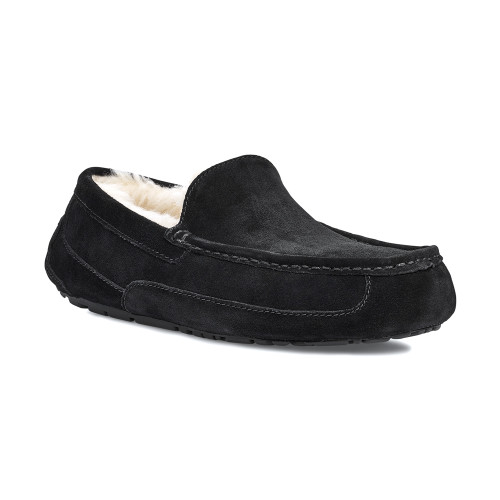 UGG Men's Ascot Slipper Black Suede - Shop now @ Shoolu.com