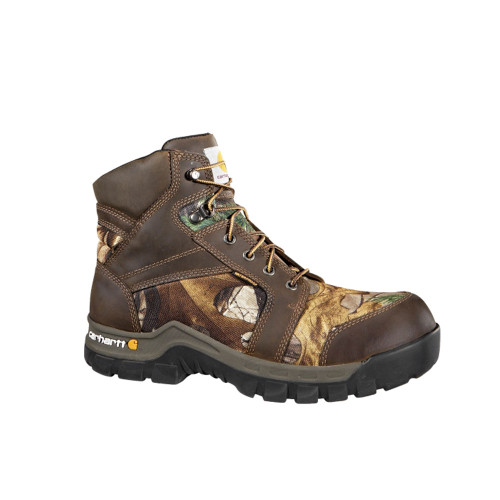 "Carhartt Men's Work Flex 6"" Work Boot Brown Camo - Shop now @ Shoolu.com"