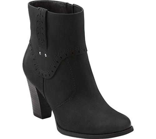 Clarks Alpine Gale Black Leather Ladies Ankle Boots - Shop now @ Shoolu.com