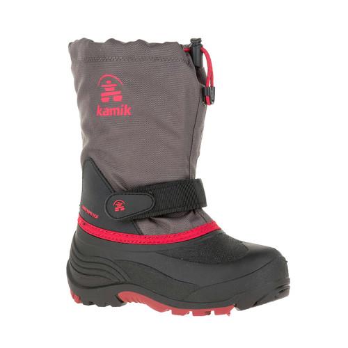 Kamik Kid's Waterbug 5 Winter Boot Charcoal/Red - Shop now @ Shoolu.com