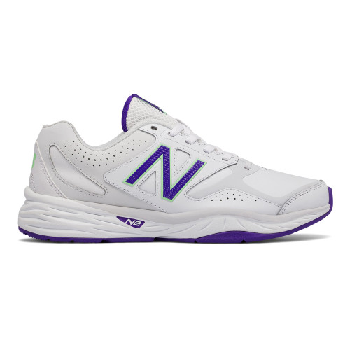 New Balance Women's WX824WV1 Cross Trainer White/Violet - Shop now @ Shoolu.com
