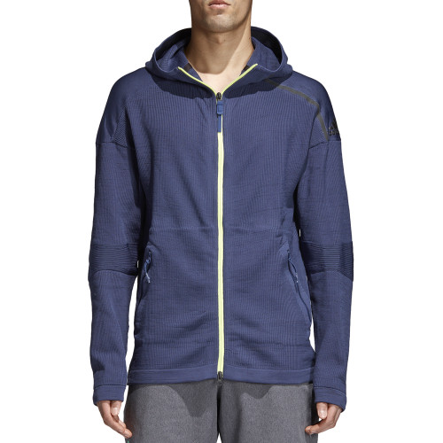 Adidas Men's Z.N.E. Tennis Warm-Up Hoodie Noble Blue - Shop now @ Shoolu.com