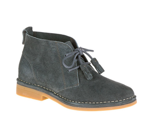 Hush Puppies Women's Cyra Catelyn Chukka Boot Dk Grey Suede - Shop now @ Shoolu.com