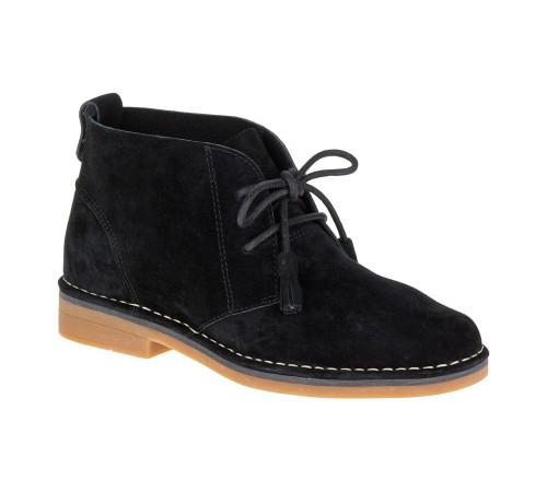 Hush Puppies Women's Cyra Catelyn Chukka Boot Black Suede - Shop now @ Shoolu.com