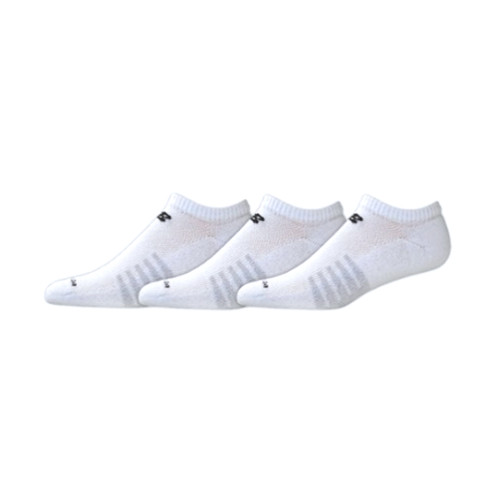 New Balance Men's 3 Pack Core Cotton No Show Socks White - Shop now @ Shoolu.com