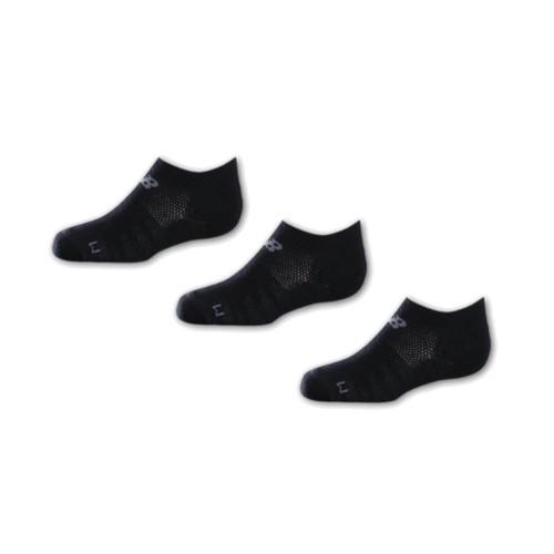 New Balance Youth 3 Pack No Show Socks Black - Shop now @ Shoolu.com