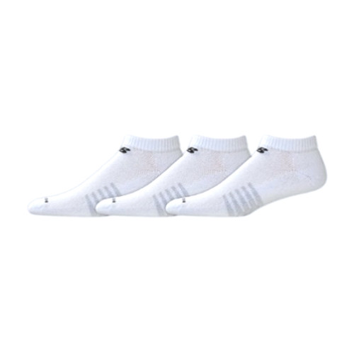 New Balance Men's 3 Pack Performance Cotton Low Cut Socks White - Shop now @ Shoolu.com