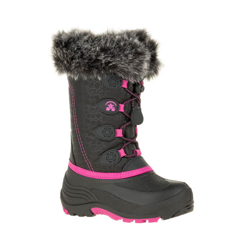 Kamik Girl's Snowgypsy Winter Boot Black/Magenta/Magenta - Shop now @ Shoolu.com