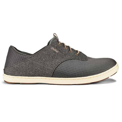 Olukai Men's Nohea Moku Sneaker Charcoal/Clay - Shop now @ Shoolu.com