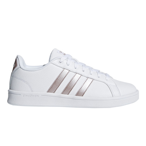 Adidas Women's Cloudfoam Advantage Sneaker White/Rose Gold - Shop now @ Shoolu.com