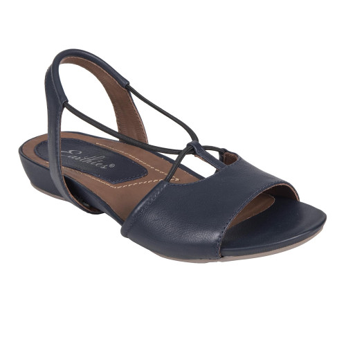 Earthies Women's Lacona Sandal Navy Leather - Shop now @ Shoolu.com
