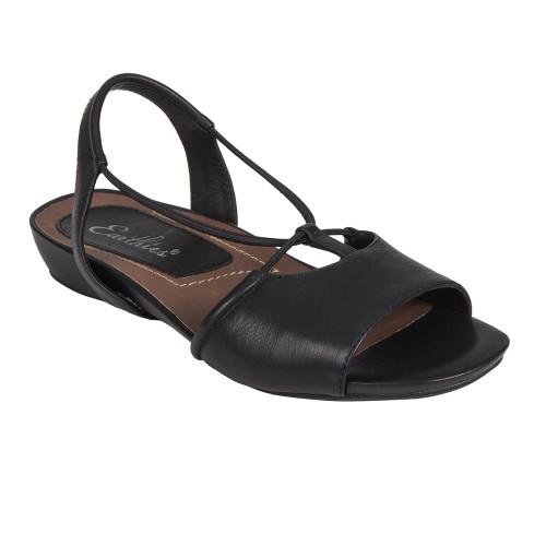 Earthies Women's Lacona Sandal Black Leather - Shop now @ Shoolu.com