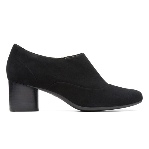 Unstructured By Clarks Women's Un Cosmo Zip Dress Shoe Black Suede - Shop now @ Shoolu.com