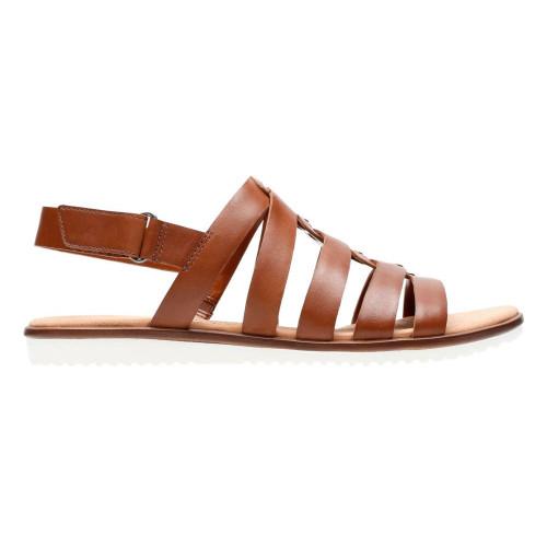 Clarks Women's Kele Jasmine Backstrap Slide Sandal Brown - Shop now @ Shoolu.com