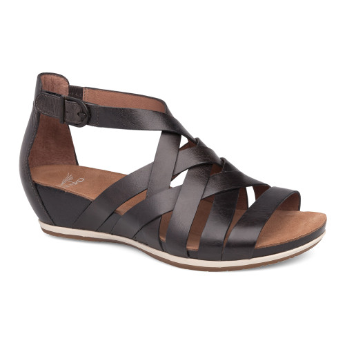 Dansko Women's Vivian Sandal Graphite Vintage Pull Up - Shop now @ Shoolu.com