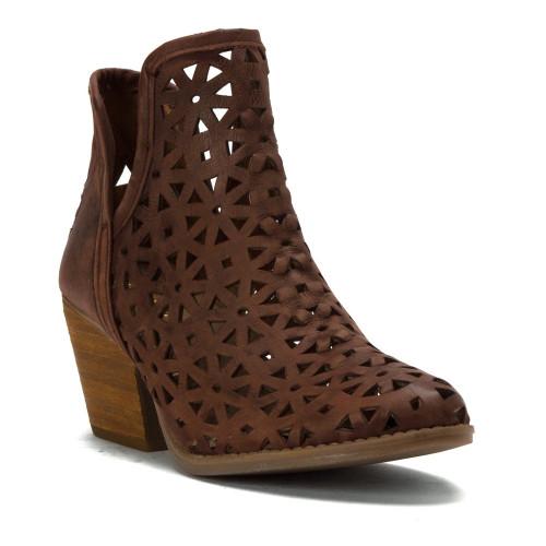 Musse & Cloud Women's Athena Perf Bootie Dark Brown - Shop now @ Shoolu.com