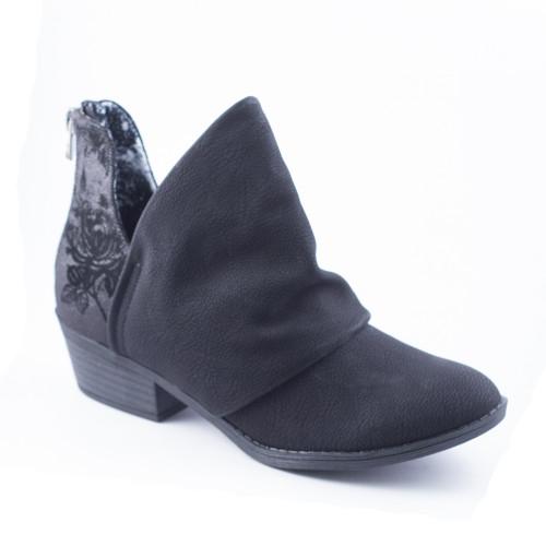 Blowfish Women's Skirr-B Bootie Black Saddlerock/Anroid Metallic - Shop now @ Shoolu.com