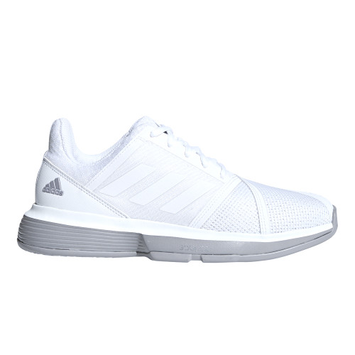Adidas Women's CourtJam Bounce Tennis Shoe White/Grey - Shop now @ Shoolu.com