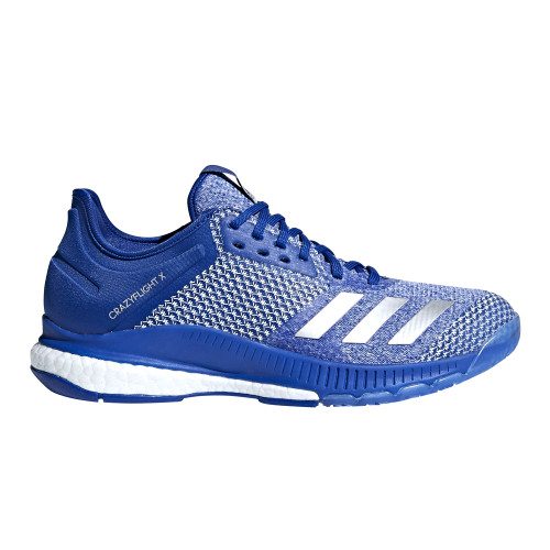 Adidas Women's Crazyflight X 2.0 Volleyball Shoe Royal/Silver/White - Shop now @ Shoolu.com