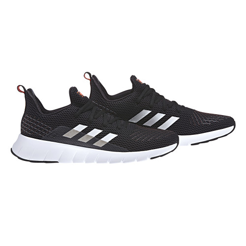 Adidas Men's Asweego Running Shoe Black/White/Red - Shop now @ Shoolu.com