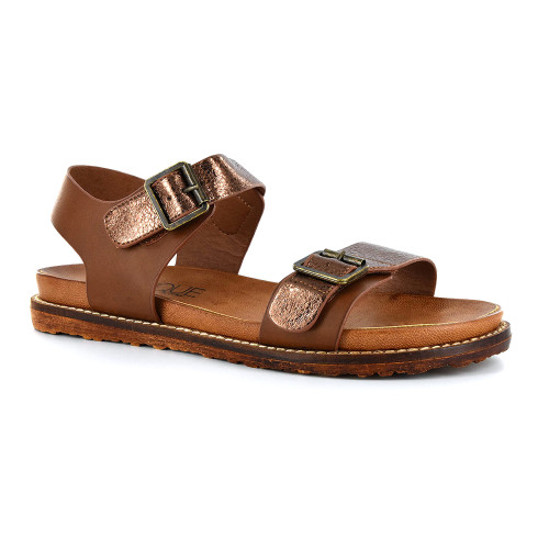 Corkys Women's Aria Sandal Brown - Shop now @ Shoolu.com