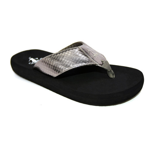 Corkys Women's Royal Flip Flop Pewter - Shop now @ Shoolu.com
