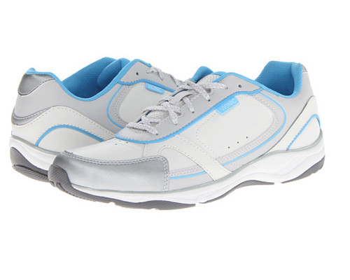 Vionic Women's Zen Walker Sneaker White/Blue - Shop now @ Shoolu.com