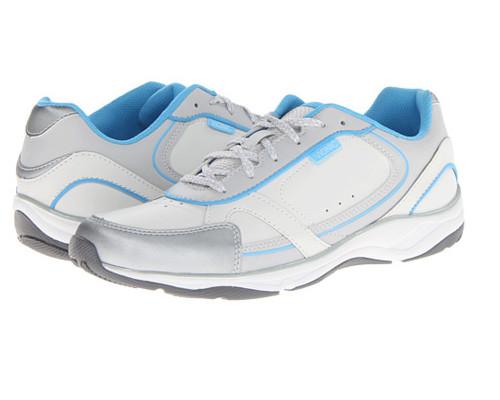 Vionic Women's Zen Walker Sneaker White/Blue - Shop now @ Shoolu.com