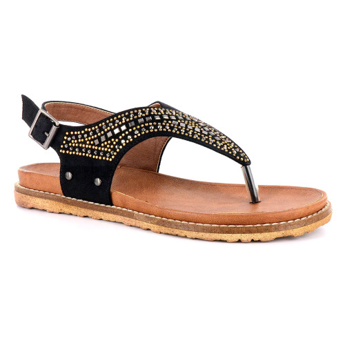 Corkys Women's Layla Sandal Black - Shop now @ Shoolu.com