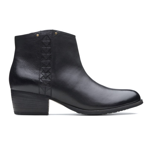 Clarks Women's Maypearl Fawn Ankle Bootie Black - Shop now @ Shoolu.com