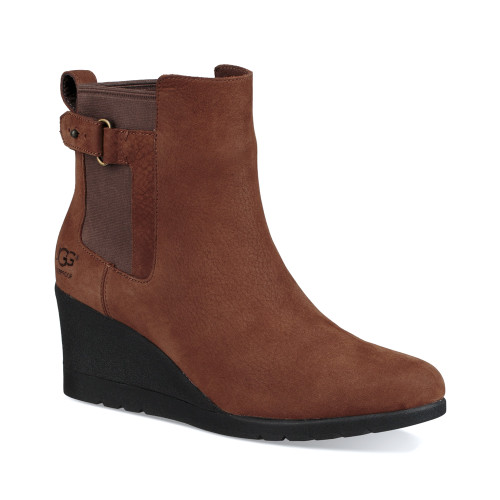 UGG Women's Indra Wedge Boot Stout - Shop now @ Shoolu.com