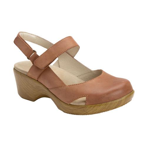 Alegria Women's Tarah Closed Toe Sandal Cognac - Shop now @ Shoolu.com