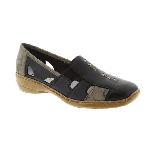 Rieker Women's Doris 85 Loafer Black Combination - Shop now @ Shoolu.com