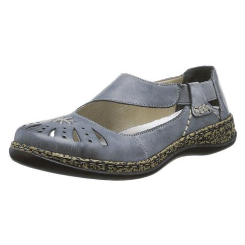 Rieker Women's Daisy 15 Slip On Blue - Shop now @ Shoolu.com
