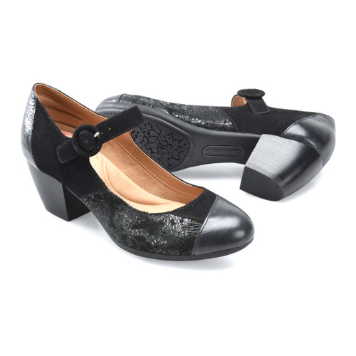 Comfortiva Women's Alora Mary-Jane Black Multi - Shop now @ Shoolu.com