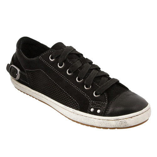 Taos Women's Capitol Sneaker Black Oiled - Shop now @ Shoolu.com