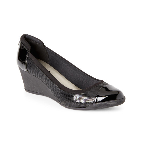 Anne Klein Women's Tenlie Slip On Wedge Black Multi - Shop now @ Shoolu.com