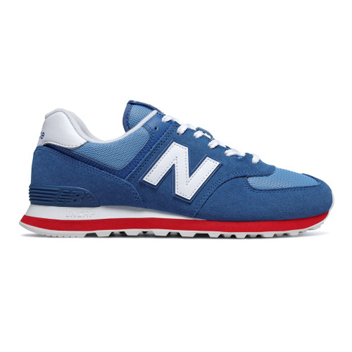 New Balance Men's ML574ERG Sneaker Classic Blue/Team Red - Shop now @ Shoolu.com