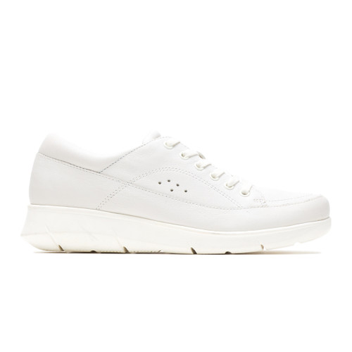Hush Puppies Women's Dasher Mardie Oxford Ivory Leather - Shop now @ Shoolu.com