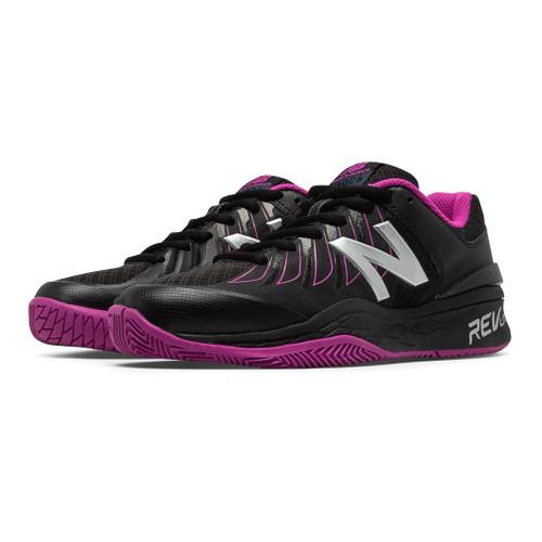 New Balance Women's WC1006WR Tennis Shoe Black/Pink Zing - Shop now @ Shoolu.com