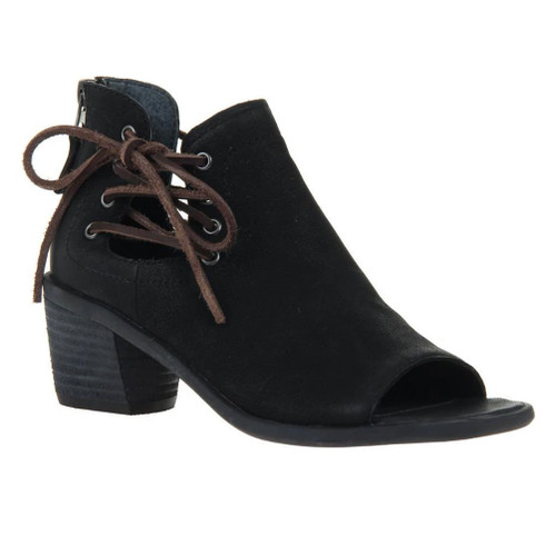 OTBT Women's Prairie Peep Toe Bootie Black - Shop now @ Shoolu.com