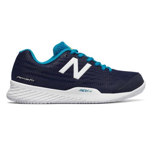 New Balance Women's WCH896P2 Tennis Shoe Black/Teal - Shop now @ Shoolu.com