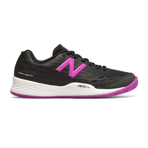 New Balance Women's WCH896B2 Tennis Shoe Black/Voltage Violet - Shop now @ Shoolu.com