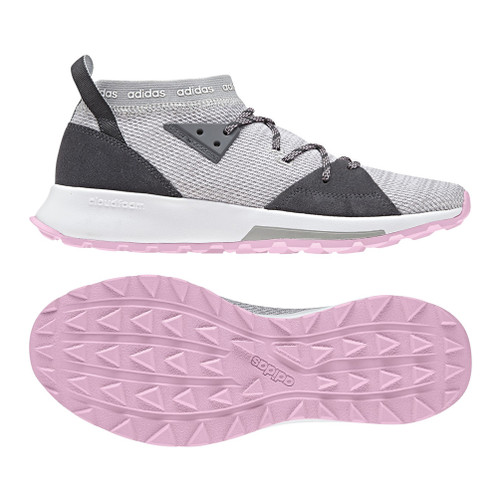 Adidas Women's Quesa Trail Runner Grey/Pink - Shop now @ Shoolu.com