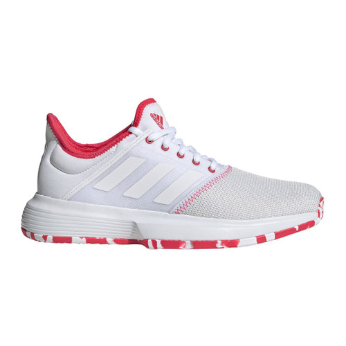 Adidas Women's GameCourt Multicourt Tennis Shoe White/Shock Red - Shop now @ Shoolu.com